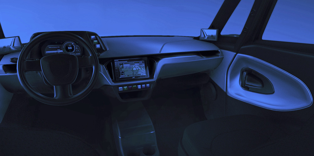 Electric car interior-Automotive-EXEON