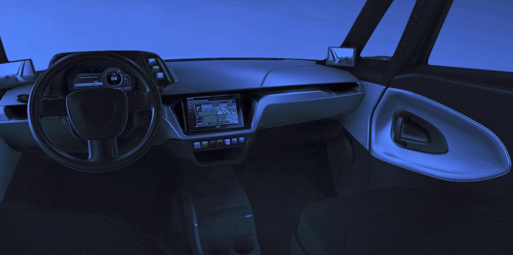 Wnętrze samochodu elektrycznego-Automotive-EXEON